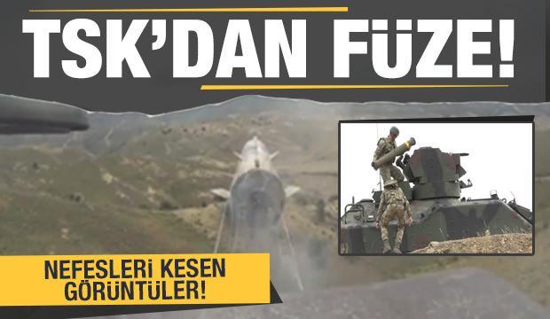 TSK'nın TOW 2A Anti-Tank Güdümlü Füze atışı nefesleri kesti