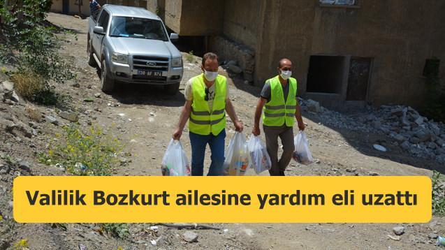 Valilik Bozkurt ailesine yardım eli uzattı
