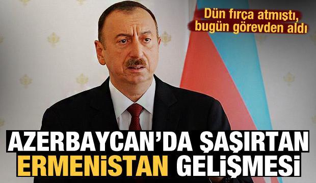 Dün fırça atmıştı, bugün görevden aldı! Azerbaycan'da şoke eden Ermenistan gelişmesi