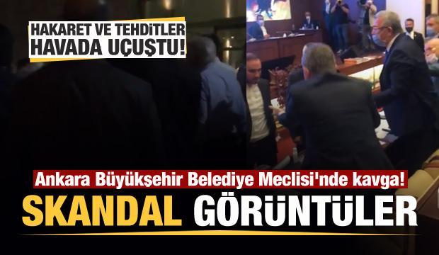 Ankara Büyükşehir Belediye Meclisi'nde kavga! Tehditler havada uçuştu