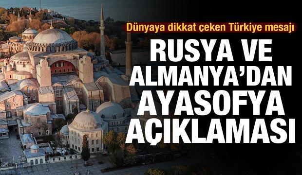 Rusya ve Almanya'dan son dakika Ayasofya açıklaması! Dünyaya Türkiye mesajı