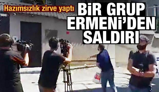 Bir grup Ermeni'den, Azerbaycan'a destek çıkan ülkenin elçiliğine saldırdı