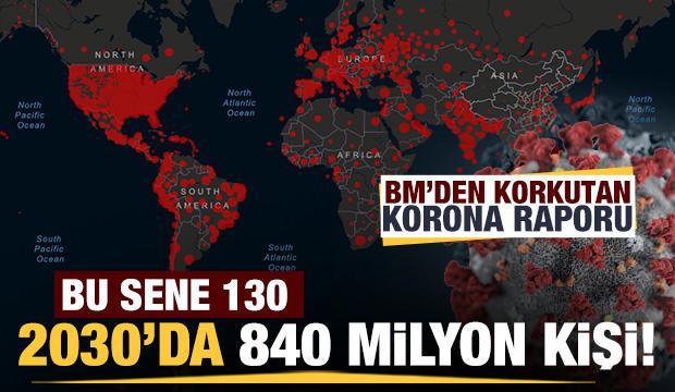 BM'den korkutan korona raporu: 130 milyon kişi için kırmızı alarm