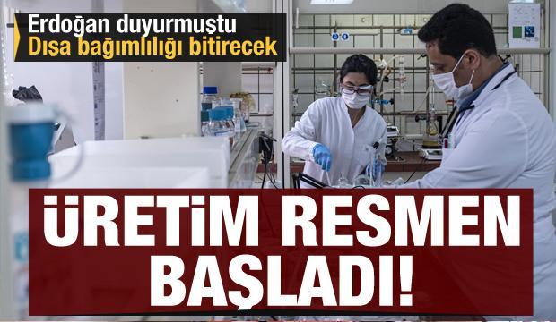 Erdoğan duyurmuştu! Dışa bağımlılığı bitirecek ilacın üretimi resmen başladı