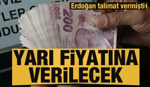 Erdoğan talimat vermişti! Yarı fiyatına çiftçilere verilecek