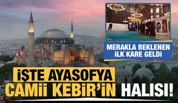 İşte Ayasofya Camii Kebir'in halısı! - GÜNCEL Haberleri