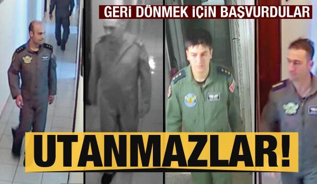 Katil pilotlar göreve dönmek için başvurdu