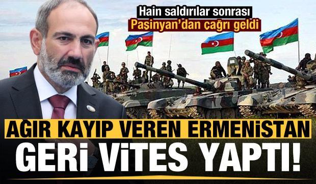Ağır kayıplar veren Ermenistan geri vites yaptı! Paşinyan'dan çağrı geldi...