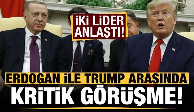 Son dakika haberi: Erdoğan ile Trump arasında kritik görüşme! iki lider anlaştı...
