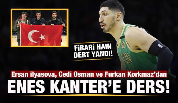 Türk oyunculardan Firari hain Enes Kanter'e ders!