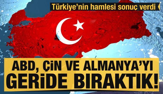 Türkiye'nin hamlesi sonuç verdi! Çin, ABD ve Almanya gibi devleri geride bıraktık