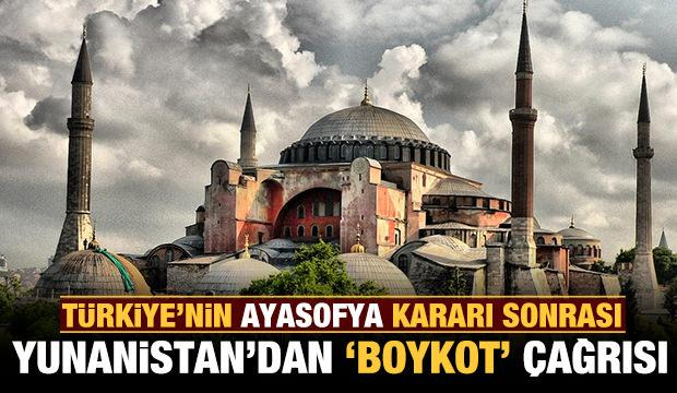 Yunanistan şaşkına döndü: Ayasofya kararı sonrası 'boykot' çağrısı