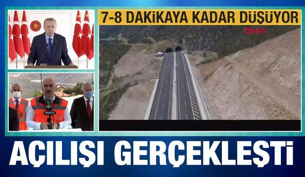 Son dakika: Erdoğan açılışını yaptı! Yarım saatten 7 dakikaya iniyor