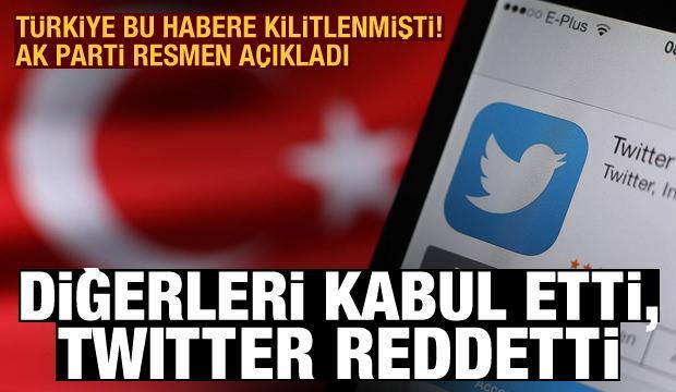 AK Parti'den sosyal medya açıklaması: Diğerleri kabul etti, Twitter reddetti