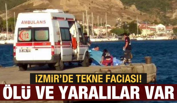 Foça'da 10 kişinin bulunduğu tekne battı: 4 ölü