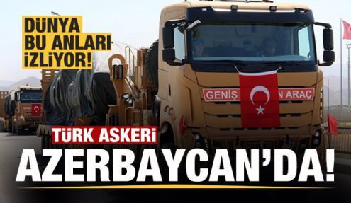 Türk askerleri Azerbaycan'da! Ermenistan'a gözdağı...