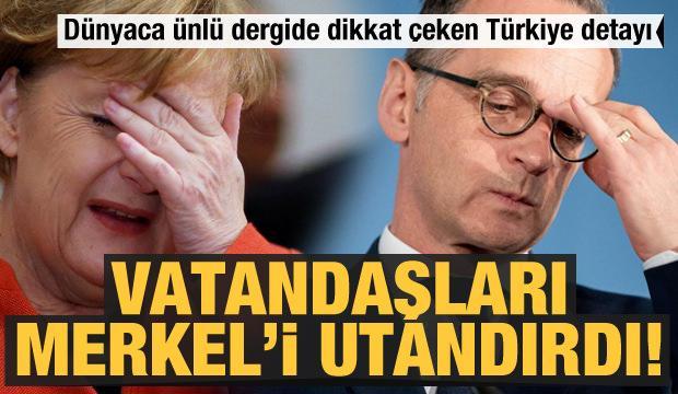 Vatandaşları Merkel'i utandırdı! Dünyaca ünlü dergide dikkat çeken Türkiye detayı