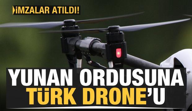 Yunan ordusuna Türk drone'u!