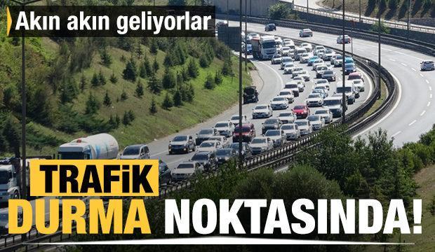 Bayram dönüşü trafik yoğunluğu