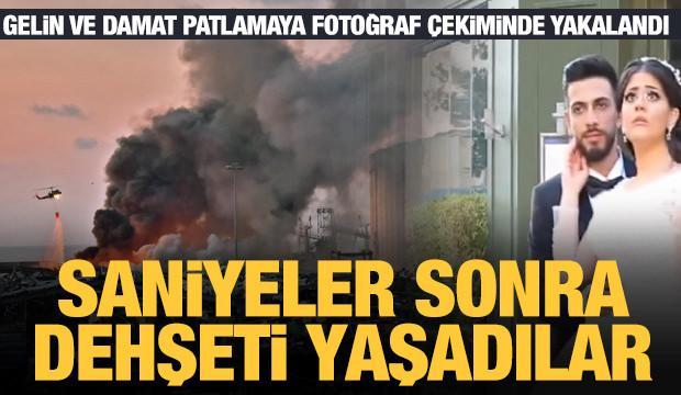 Beyrut'taki patlamaya fotoğraf çekimi sırasında yakalandılar