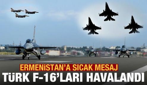 Diğer sıcak gündem Kafkasya! Türk F-16'larından Ermenistan'a gözdağı