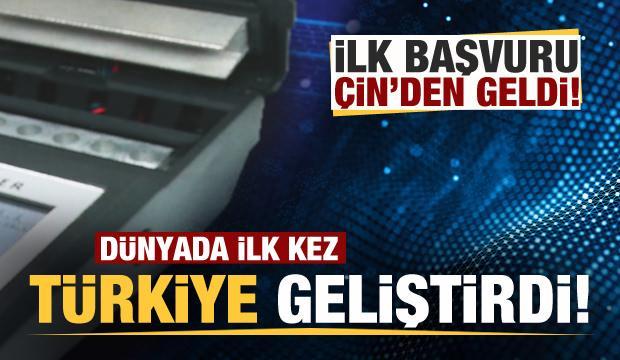 Dünyada ilk kez Türkiye geliştirdi! İlk talep Çin'den geldi!