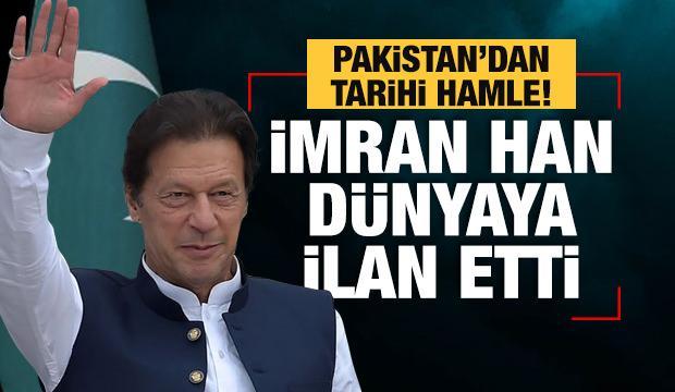 İmran Han dünyaya ilan etti! İşte yeni Pakistan haritası