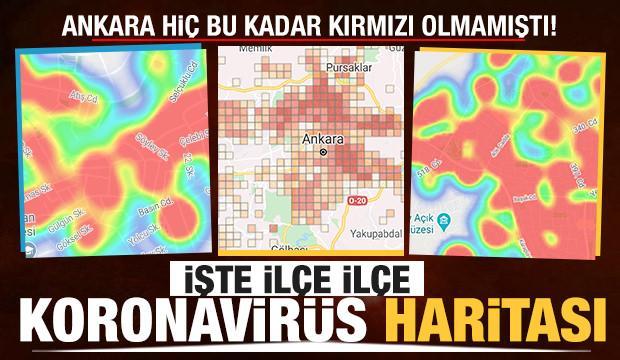 İşte ilçe ilçe Ankara'nın koronavirüs haritası