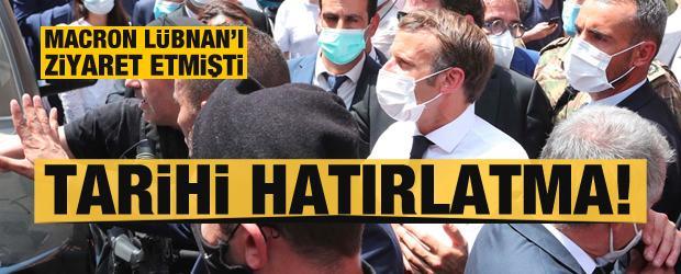 Macron'un Beyrut ziyareti sonrası tarihi hatırlatma!