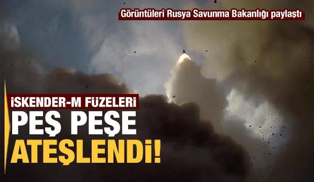 Rusya İskender-M füzelerini peş peşe ateşledi! İşte o görüntüler