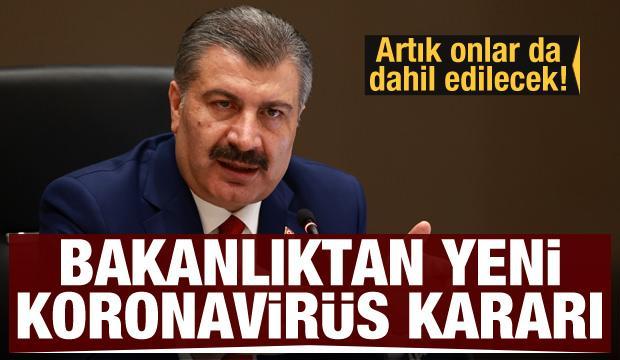 Sağlık Bakanlığı'ndan yeni koronavirüs kararı! Artık onlara da ilaç verilecek