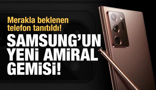 Samsung'un yeni amiral gemisi 'Note 20' tanıtıldı! İşte özellikleri...
