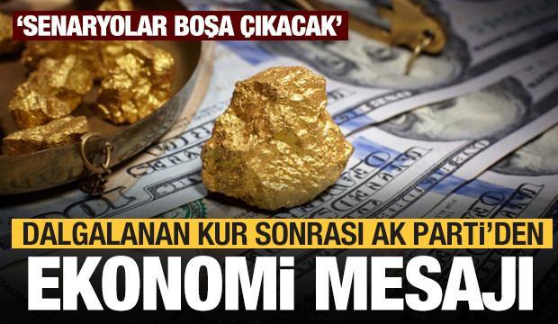 Son dakika: AK Parti'den altın, dolar ve ekonomiyle ilgili açıklama