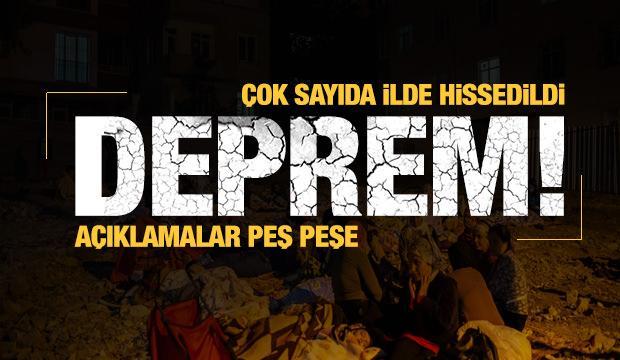 Son dakika: Malatya'da şiddetli deprem! Diyarbakır, Elazığ, Batman, Gaziantep sallandı