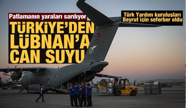 Türkiye Lübnan'ın yardımına koştu: Yardımlar peş peşe gitti