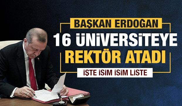 16 üniversiteye rektör ataması yapıldı