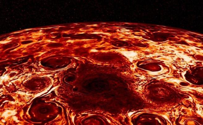 NASA'nın Jupiter fotoğrafı sosyal medyada gündem oldu