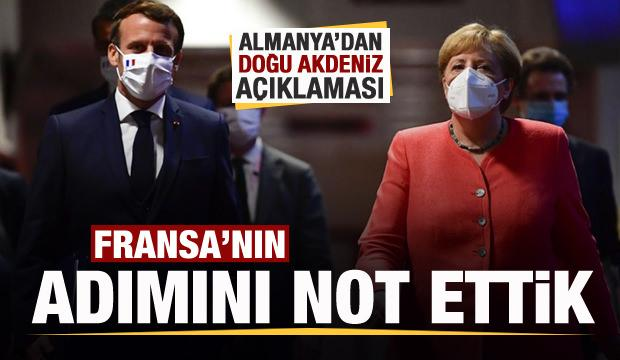 Alman hükümeti: Fransa'nın Doğu Akdeniz'deki adımını not ettik