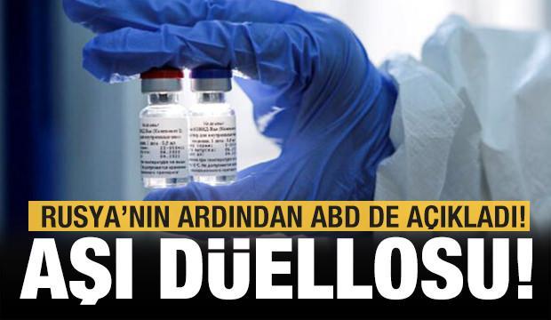 Aşı düellosu! Rusya'nın ardından ABD'den de açıklama geldi