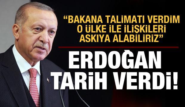 Başkan Erdoğan tarih verdi! Ayın 23'üne kadar sürecek
