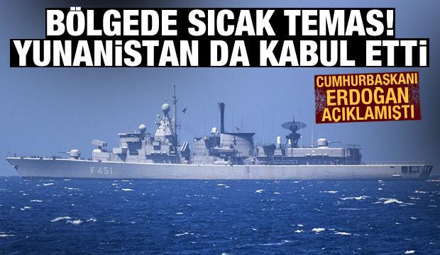 Cumhurbaşkanı Erdoğan açıklamıştı! Olayı Yunanistan da kabul etti