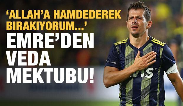 Emre Belözoğlu'dan veda mektubu! Futbolu bıraktı