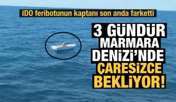 İDO feribotu, Marmara Denizi'nde yardım isteyen tekneyi kurtardı!