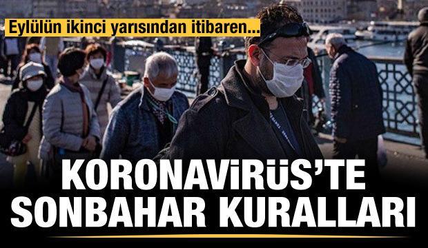 Koronavirüste sonbahar kuralları!