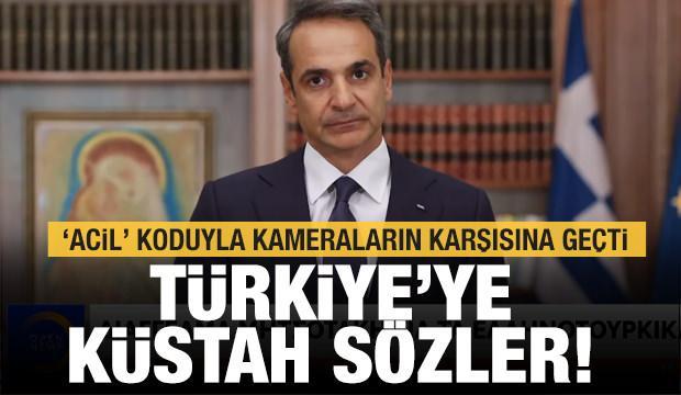 Miçotakis 'Acil' koduyla kameraların karşısına geçti! Türkiye'ye küstah sözler