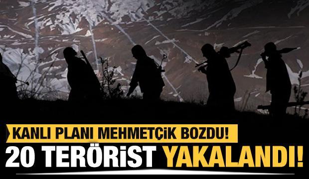 MSB duyurdu! 20 PKK/YPG'li terörist daha yakalandı