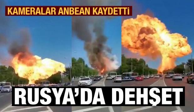 Rusya'daki korkunç patlama kameraya yansıdı