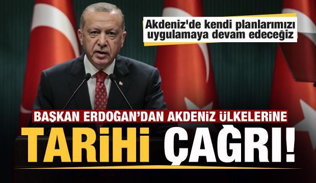 Son dakika: Başkan Erdoğan'dan Akdeniz ülkelerine tarihi öneri