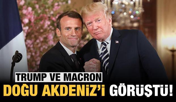 Trump ve Macron Doğu Akdeniz'i görüştü