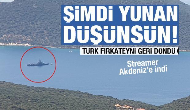 Türk fırkateyni yeniden Kaş'ta